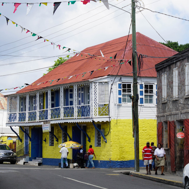 """Charlestown, Nevis, St. Kitts and Nevis, Leeward Islands, West Indies,..."" stock image"