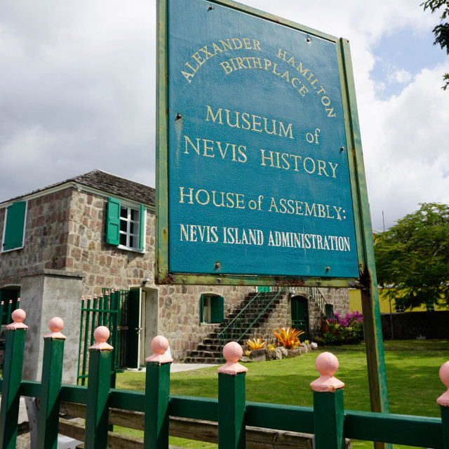 """Museum of Nevis History, Charlestown, Nevis, St. Kitts and Nevis, Leeward..."" stock image"
