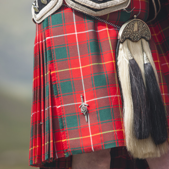 """Kilt of a Scottish Piper"" stock image"