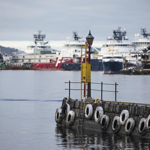 """Oil Industry Vessels in Dock"" stock image"