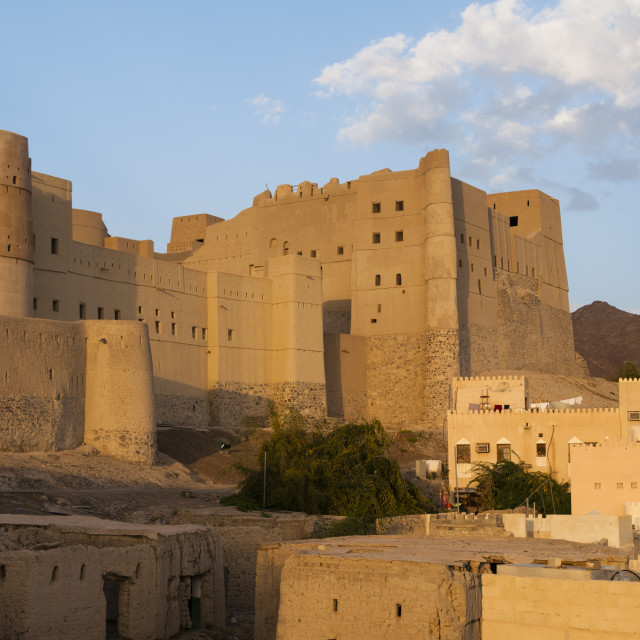 """Bahla Fort, UNESCO World Heritage Site, Oman, Middle East"" stock image"