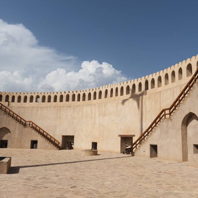 """Nizwa fort, Oman, Middle East"" stock image"