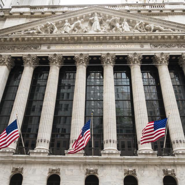 """New York Stock Exchange, Wall Street, Manhattan, New York City, New York,..."" stock image"
