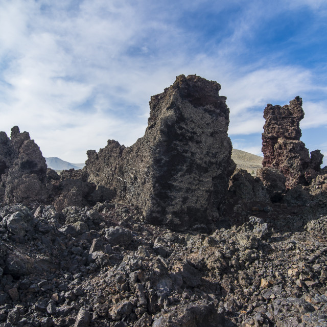 """""""Cold lava walls in the Craters of the Moon National Park, Idaho, United..."""" stock image"""