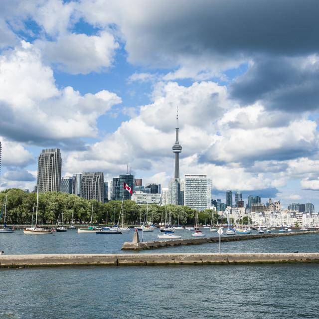 """The skyline of Toronto, Ontario, Canada, North America"" stock image"