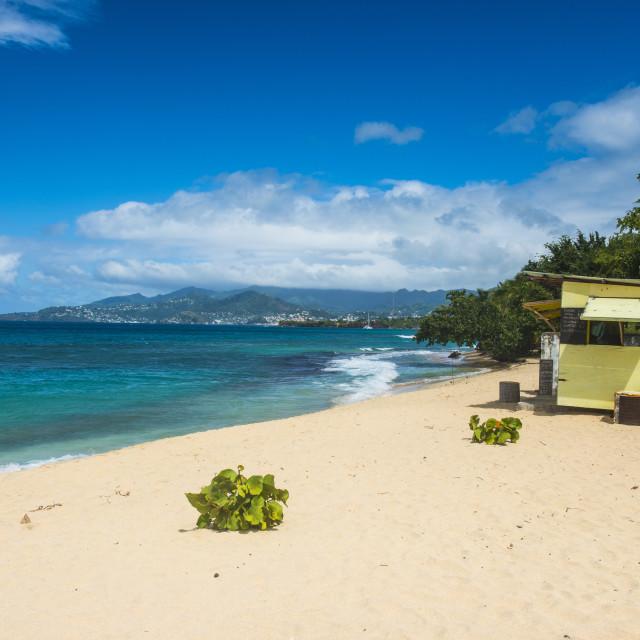 """Magazine Beach, Grenada, Windward Islands, West Indies, Caribbean, Central..."" stock image"