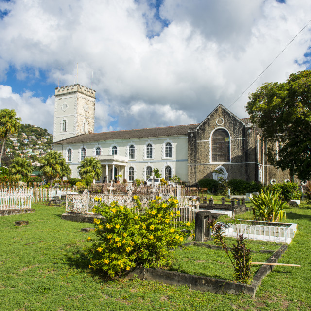 """""""St. George's Cathedral, Kingstown, St. Vincent, St. Vincent and the..."""" stock image"""