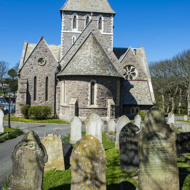 """""""The church of St. Anne, Alderney, Channel Islands, United Kingdom, Europe"""" stock image"""