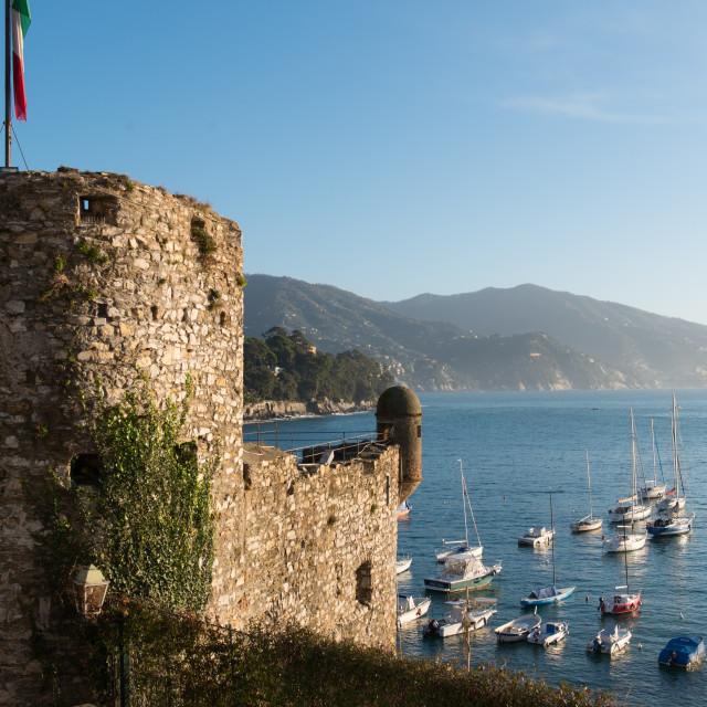 """""""The 16th century castle, Santa Margherita Ligure, Genova (Genoa), Liguria,..."""" stock image"""