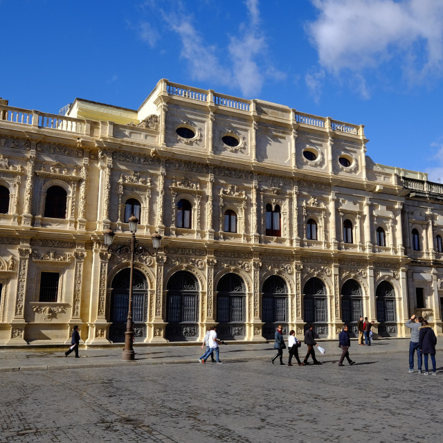 """Ayuntamiento, Plaza de San Francisco, Seville, Andalucia, Spain, Europe"" stock image"