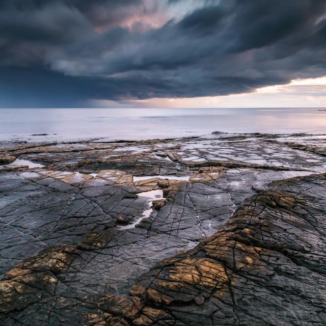 """Kimmeridge Bay Storm"" stock image"