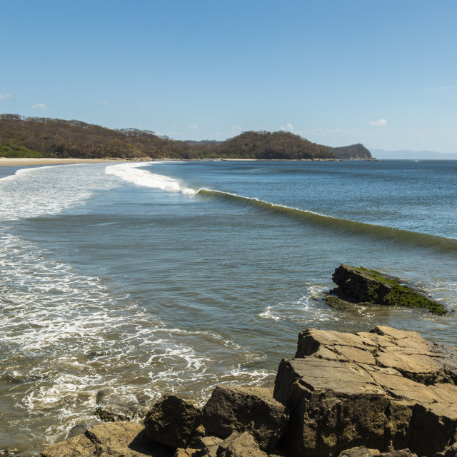 """Beautiful world-class Playa El Coco beach south of San Juan del Sur, Playa El..."" stock image"