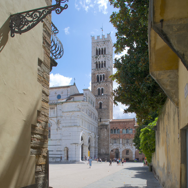"""""""St. Martin Cathedral, Lucca, Tuscany, Italy, Europe"""" stock image"""