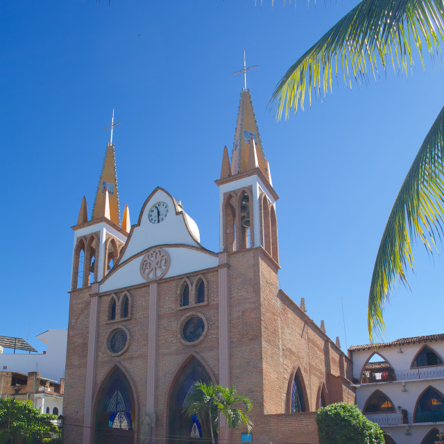 """""""Talpa Church, Puerto Vallarta, Jalisco, Mexico, North America"""" stock image"""