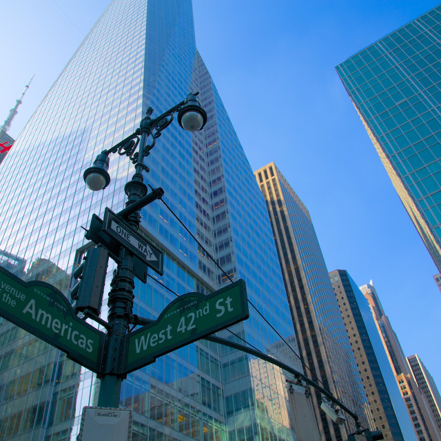 """North America, United States of America, New York, New York, Avenue of the..."" stock image"