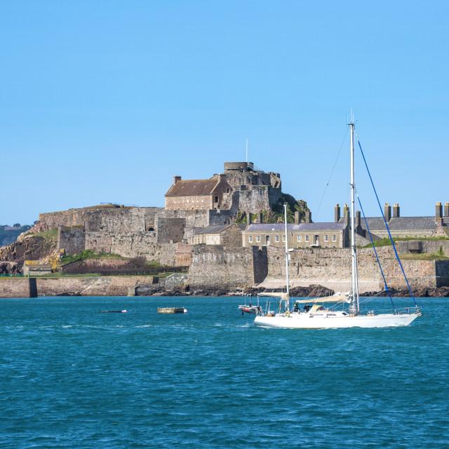 """""""Elizabeth Castle, St. Helier, Jersey, Channel Islands, United Kingdom, Europe"""" stock image"""