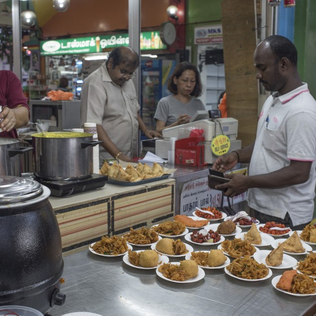 """""""Food stall in Little India, Singapore"""" stock image"""