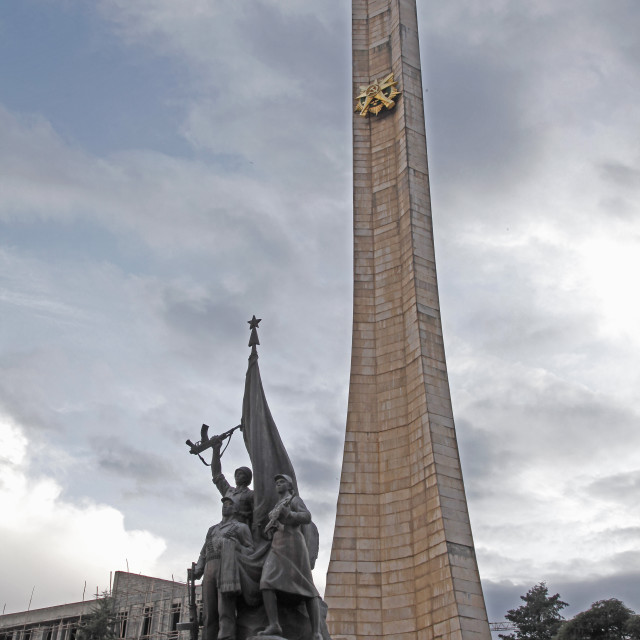 """Monument to the Derg communist military junta, led by Mengitsu Haile Mariam,..."" stock image"