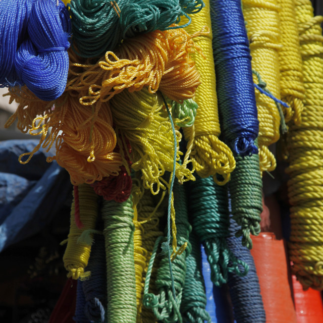 """""""Ropes for sale at the market in Bahir Dar, Ethiopia"""" stock image"""