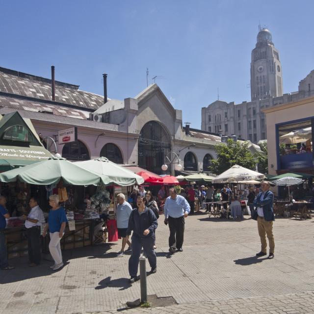 """""""Mercado del Puerto, Montevideo, Uruguay"""" stock image"""