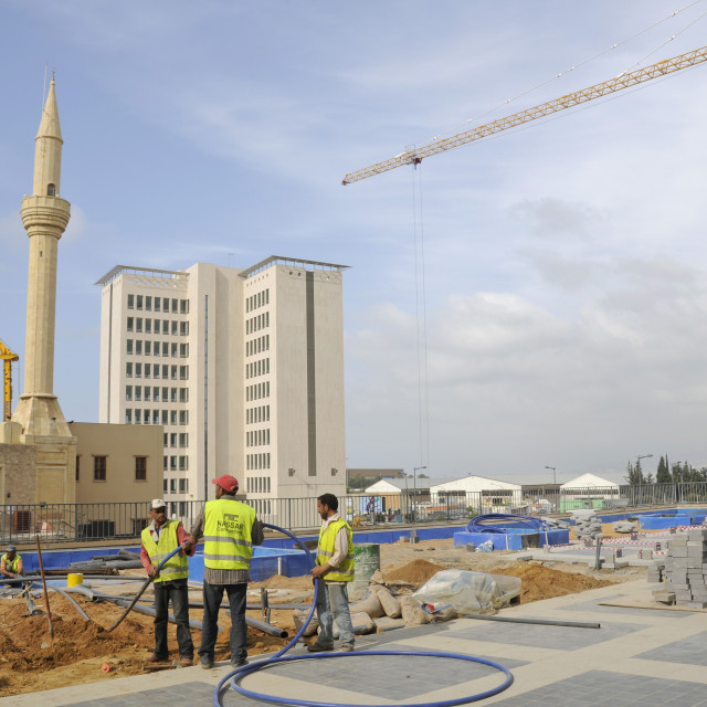 """""""LEBANON. RECONSTRUCTION OF DOWNTOWN BEIRUT BY SOLIDERE CONSORTIUM SET UP BY..."""" stock image"""