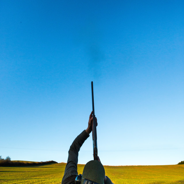 """gun shooting, wales"" stock image"