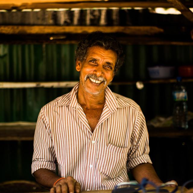 """""""Market seller, Sri Lanka"""" stock image"""