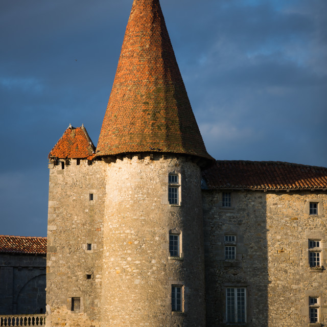 """Chillac Chateau, La charente, France"" stock image"