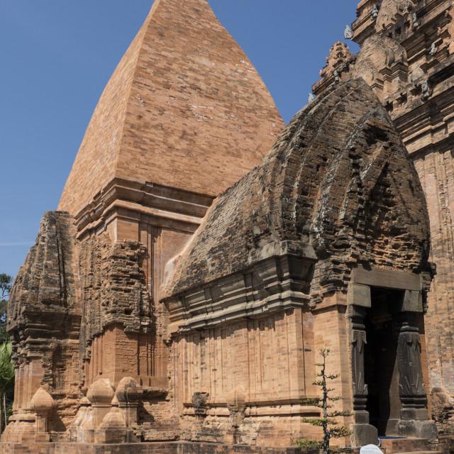 """Po Nagar Cham tower, Nha Trang, Vietnam, Indochina, Southeast Asia, Asia"" stock image"