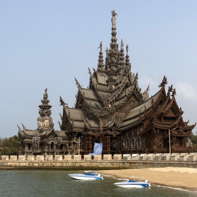 """Sanctuary of Truth, Pattaya, Thailand, Southeast Asia, Asia"" stock image"