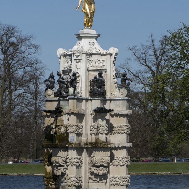 """Diana Fountain, Bushy Park, Hampton, London, England"" stock image"