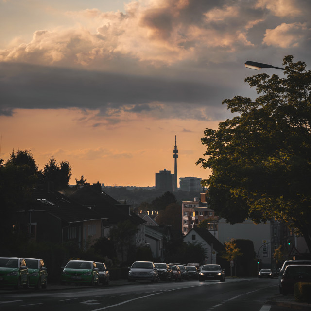 """Golden hour in Dortmund"" stock image"