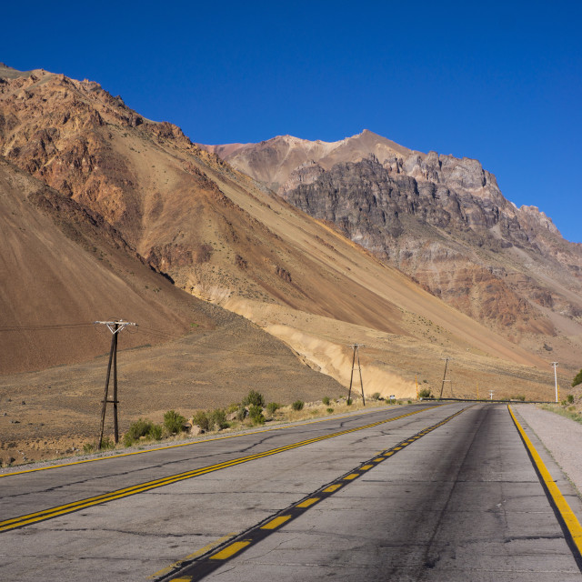 """Main road, Atacama Desert, Argentina, South America"" stock image"