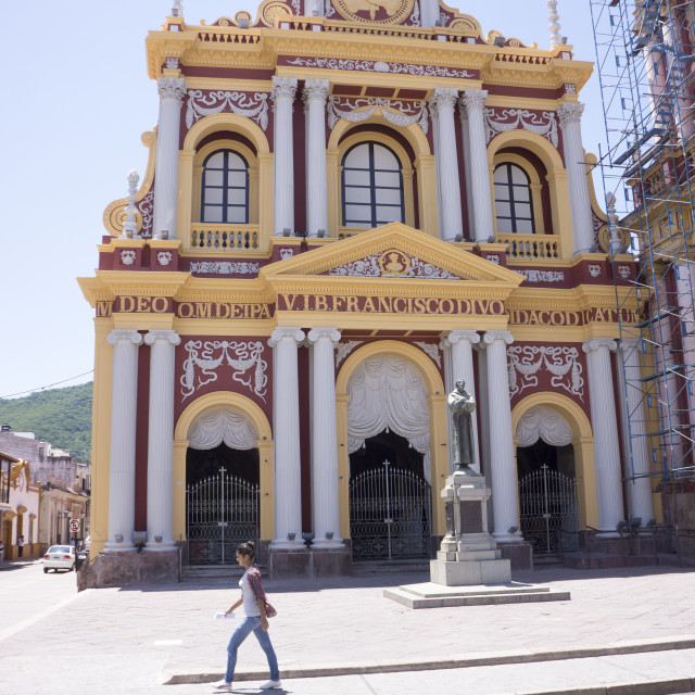 """Iglesia San Francisco, Salta, Argentina, South America"" stock image"