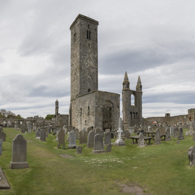 """""""St Andrews Cathedral ruins, Fife, Scotland"""" stock image"""