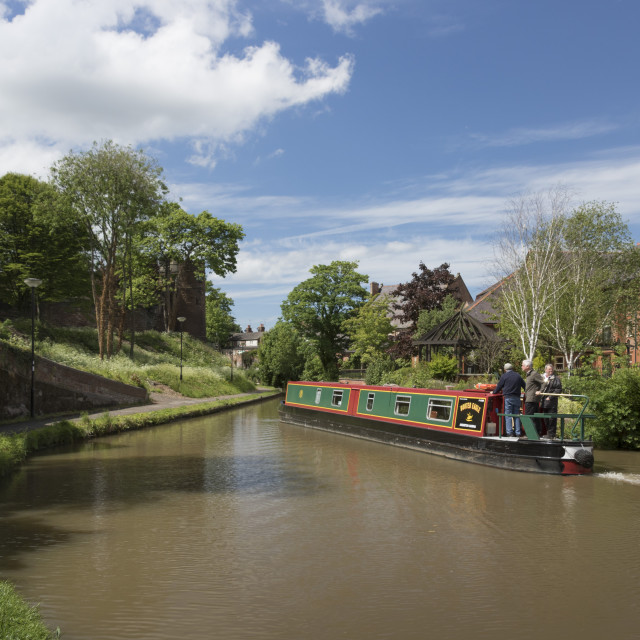 """""""Shropshire Union Canal in Chester, Cheshire, England, United Kingdom"""" stock image"""