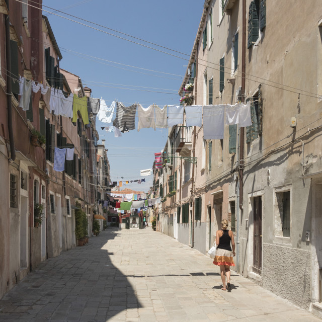 """""""A street in Castello district, Venice, Italy"""" stock image"""