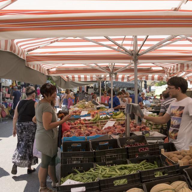 """""""Market, Lido di Jesolo, Venice, Italy"""" stock image"""
