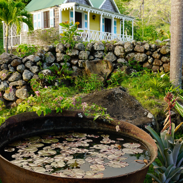 """""""The Hermitage, Nevis, St. Kitts and Nevis, Leeward Islands, West Indies,..."""" stock image"""