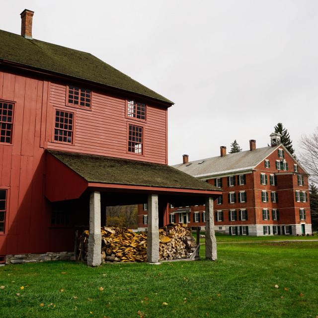 """Hancock Shaker Village, Pittsfield, The Berkshires, Massachusetts, New..."" stock image"