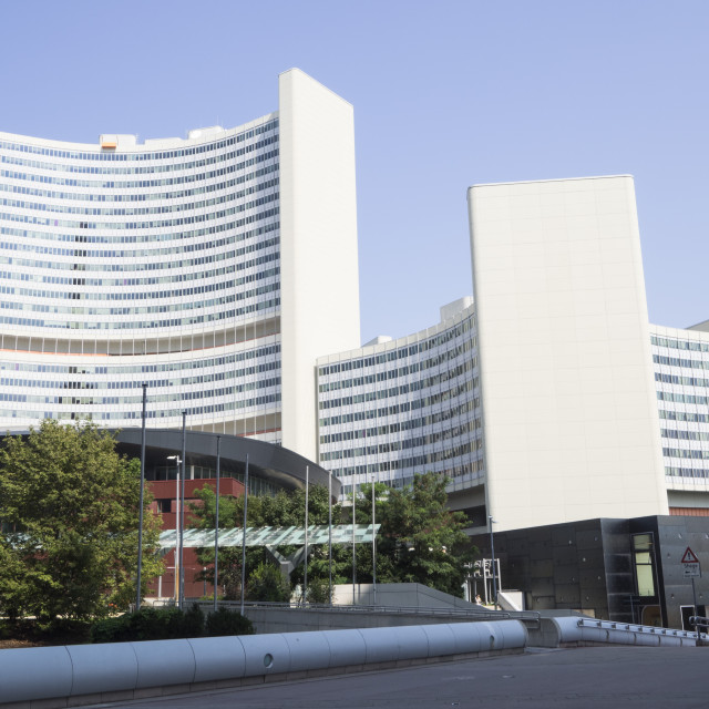 """UN Headquarters, Vienna International Centre, Danube City, Vienna, Austria,..."" stock image"