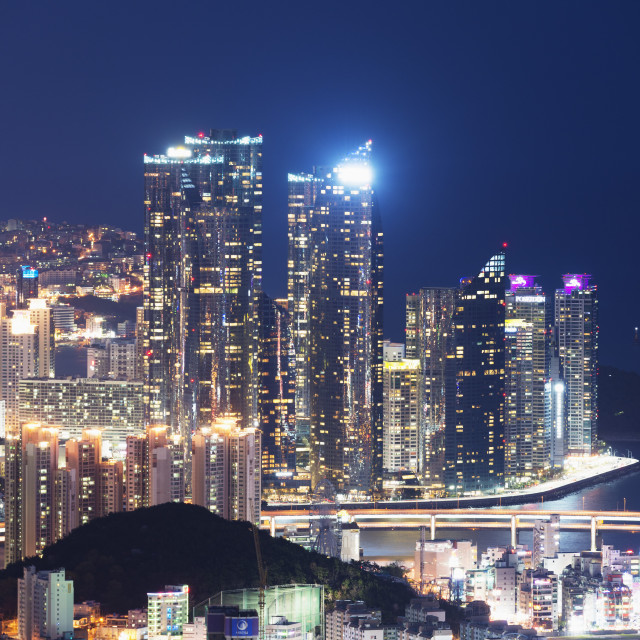 """City skyline, Busan, South Korea, Asia"" stock image"