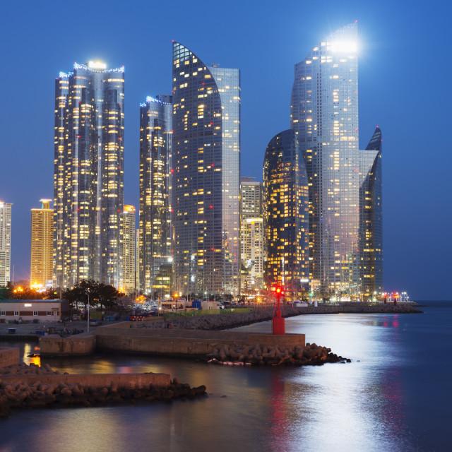 """City skyline, Busan, South Korea, Asia"" stock image"