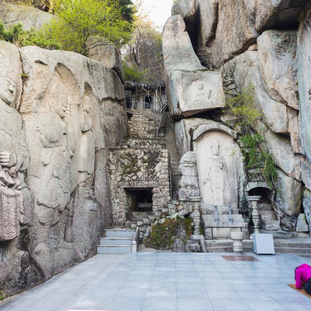 """Seokbulsa Temple, Busan, South Korea, Asia"" stock image"