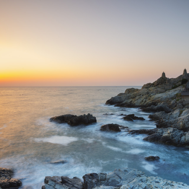 """Sunrise, Busan, South Korea, Asia"" stock image"