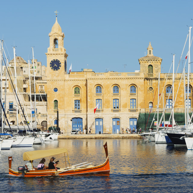 """Grand Harbour Marina, Vittoriosa (Birgu), The Three Cities, Malta,..."" stock image"