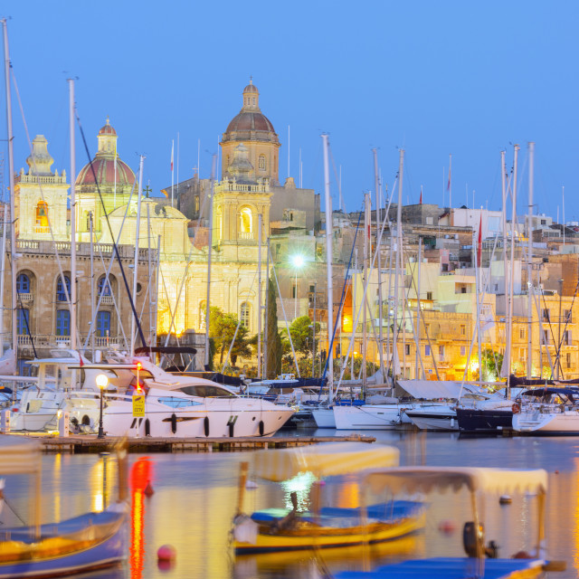 """Grand Harbour Marina, Vittoriosa (Birgu), The Three Cities, Malta,..."" stock image"