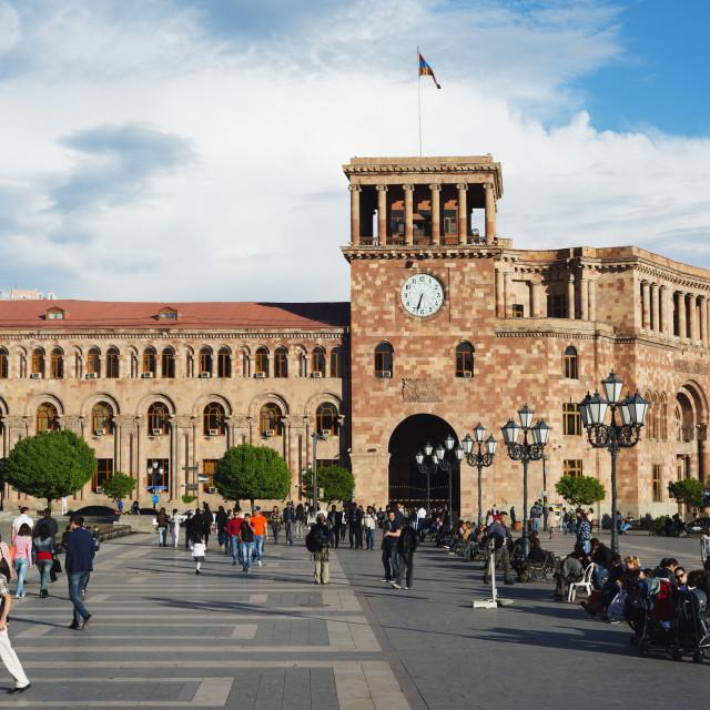 """""""Eurasia, Caucasus region, Armenia, Yerevan, Republic Square, Government of..."""" stock image"""