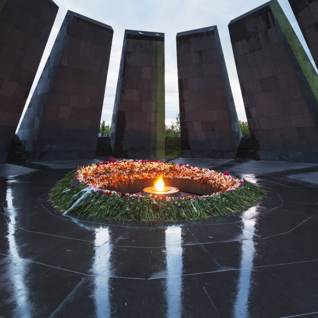 """Eurasia, Caucasus region, Armenia, Yerevan, genocide memorial"" stock image"