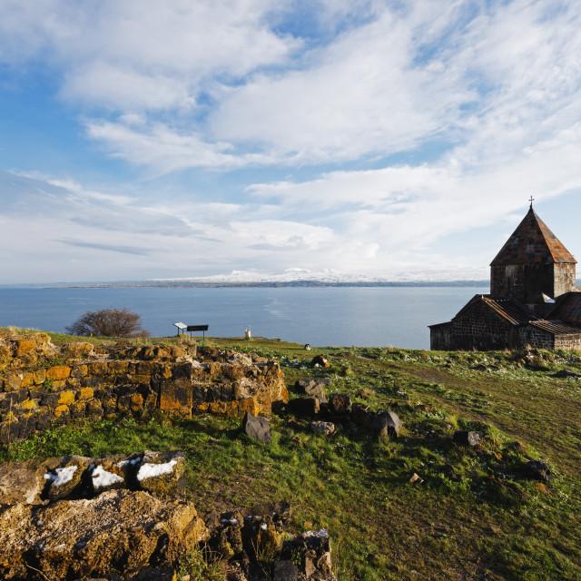 """Eurasia, Caucasus region, Armenia, Gegharkunik province, Lake Sevan,..."" stock image"